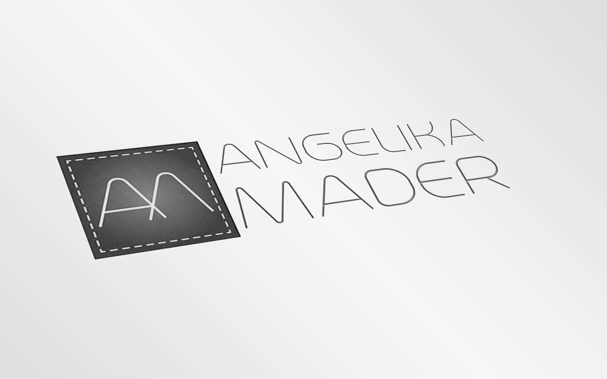 Alternatywna wersja logotypu Angeliki Mader