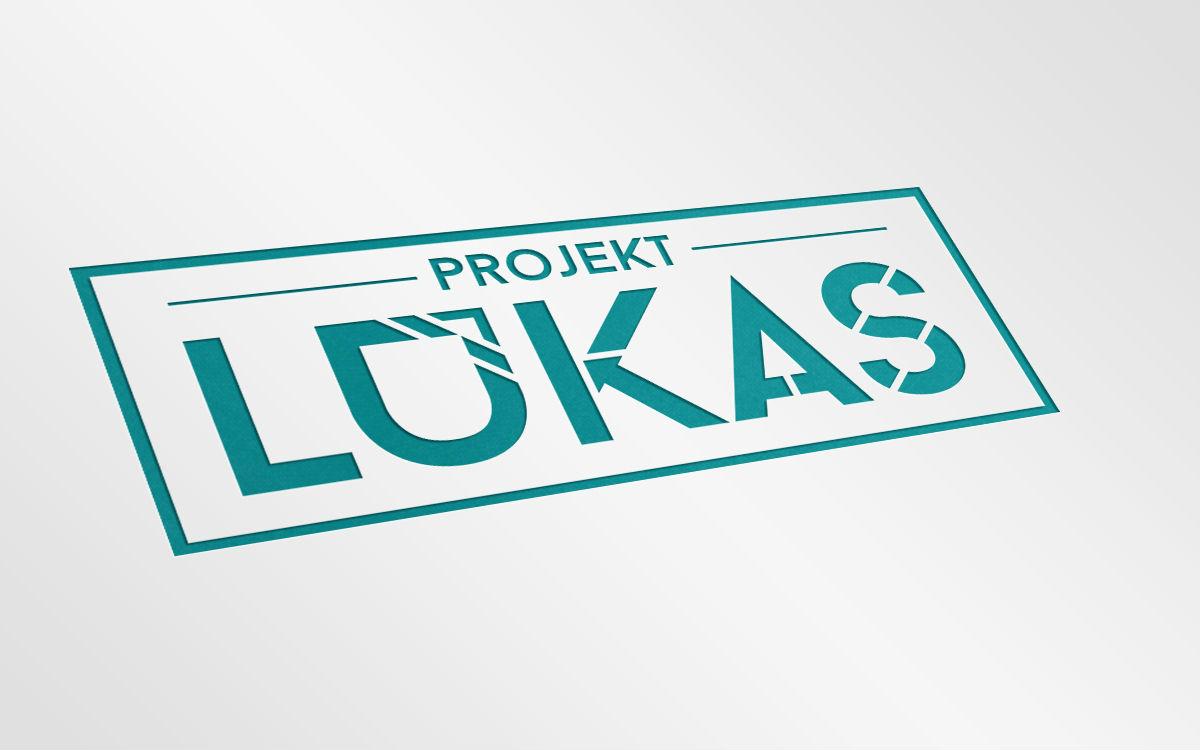 Mockup logotypu projektlukas.pl